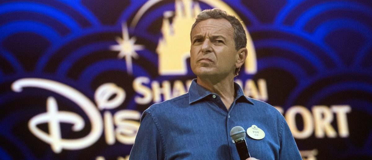Chairman and CEO of Walt Disney Bob Iger holds a press conference at Shanghai Disney Resort in Shanghai on June 15, 2016. (JOHANNES EISELE/AFP/Getty Images)