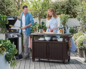 Normally $239.99, this outdoor entertainment station is 38 percent off (Photo via Amazon)