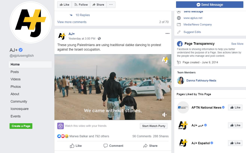 AJ+ Facebook/Screenshot