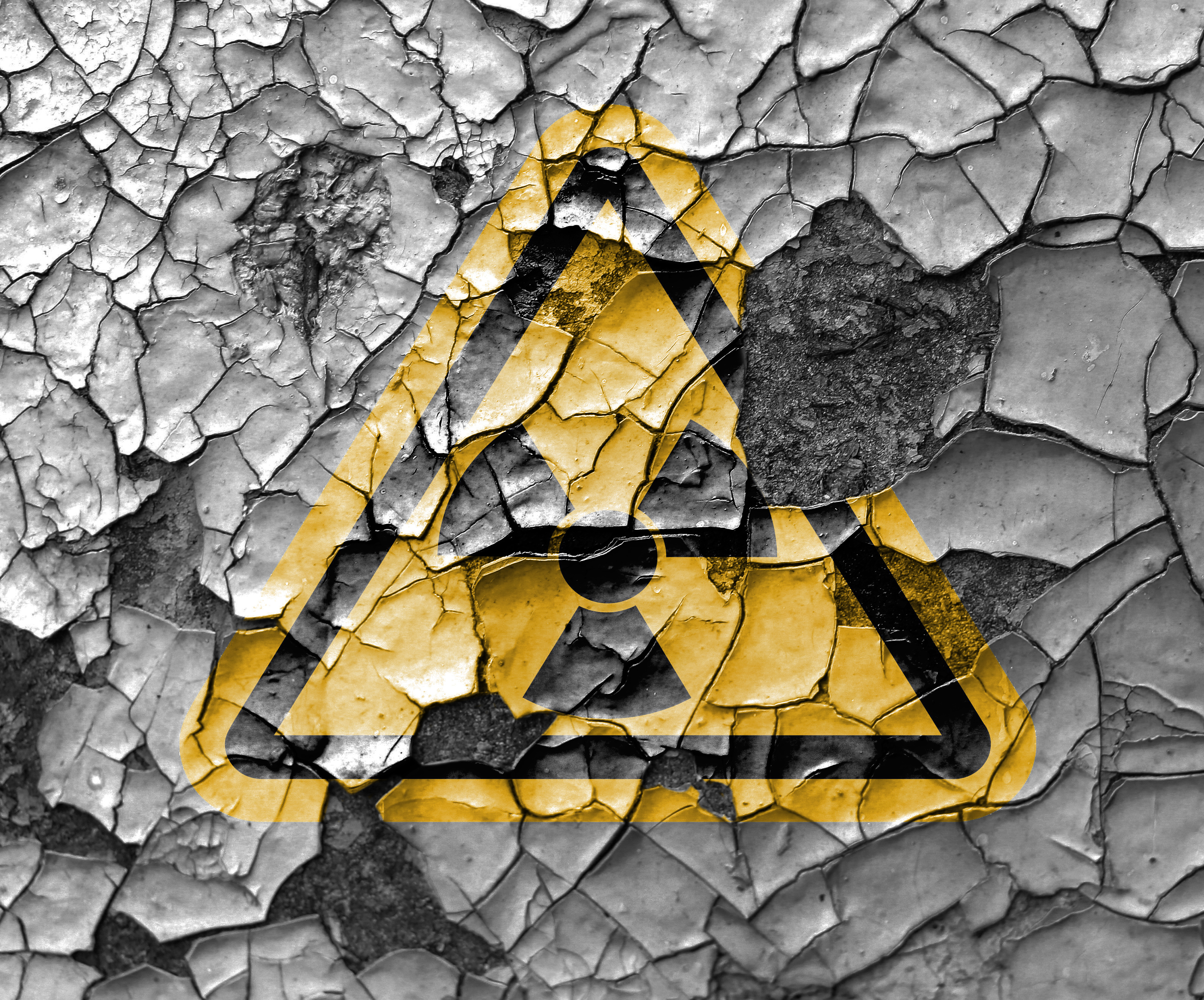 Pictured is a sign conveying radioactivity. SHUTTERSTOCK/Andrei Burylov