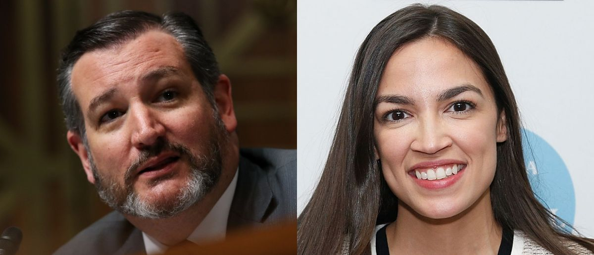Sen. Ted Cruz and Rep. Alexandria Ocasio-Cortez found something to agree on May 30, 2019. Win McNamee/Getty Images and Lars Niki/Getty Images for The Athena Film Festival