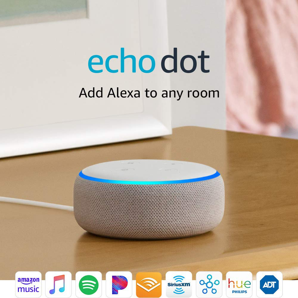 Alexa, is it true I can save $20 on the echo dot? Yes. Yes it is. (Photo via Amazon)