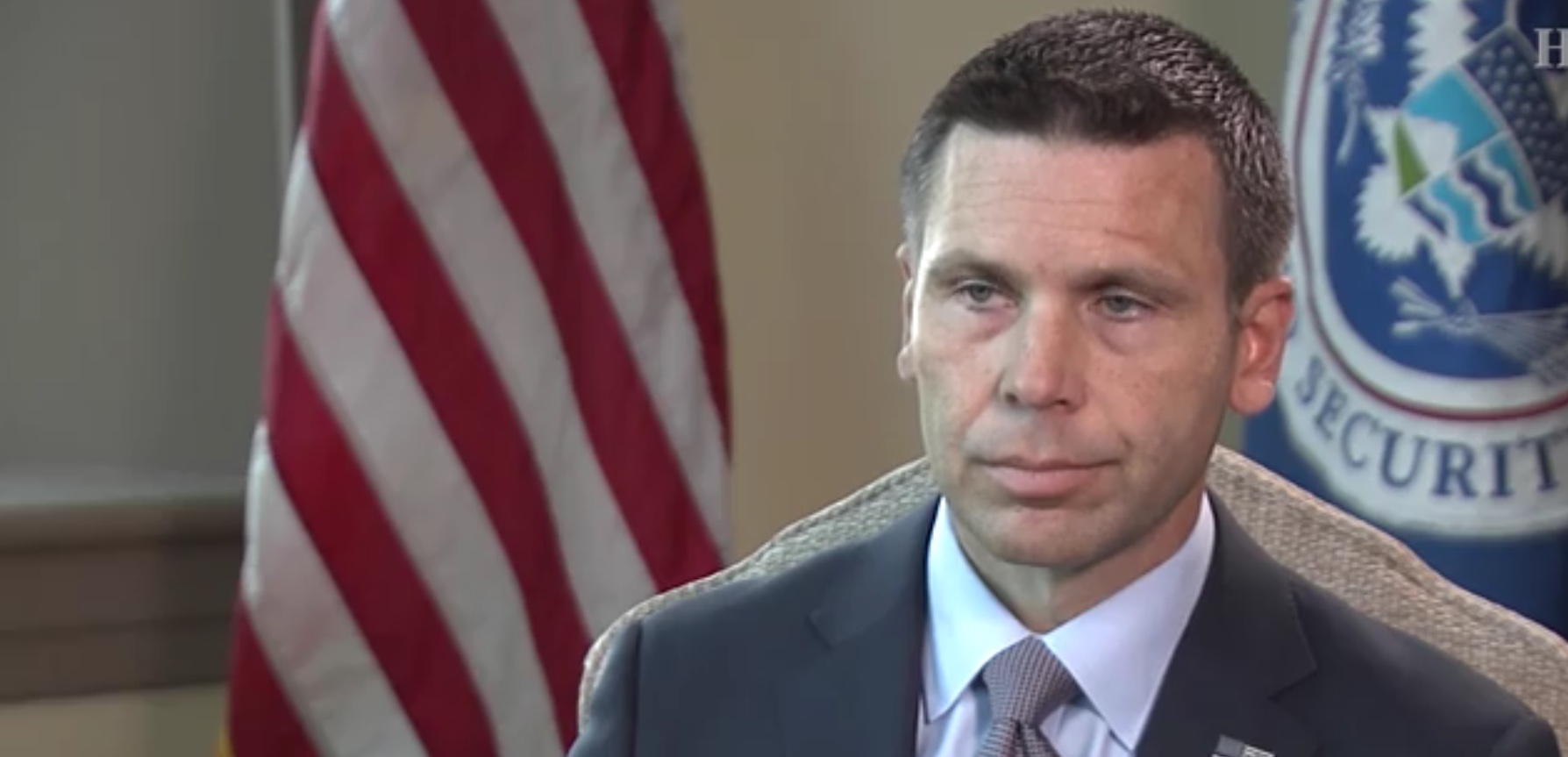 Acting DHS Secretary Kevin McAleenan discusses the border crisis with HillTV, June 4, 2019. HillTV screenshot.