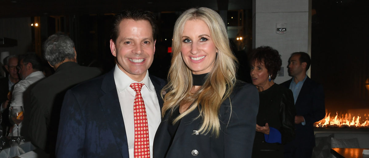"""Anthony Scaramucci and Deidre Ball attend the """"Pavarotti"""" New York Screening After Party at R17 on May 28, 2019 in New York City. (Photo by Nicholas Hunt/Getty Images)"""