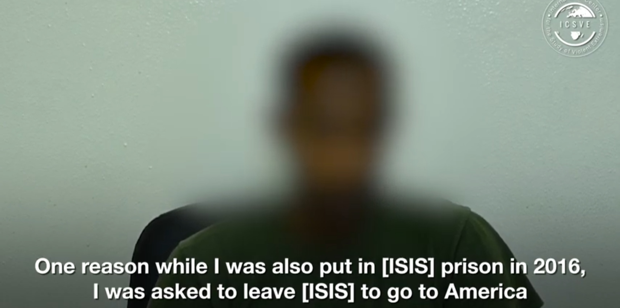 Abu Henricki is interviewed about his being recruited by ISIS to attack the U.S. financial sector, May 12, 2019. YouTube screencapture.