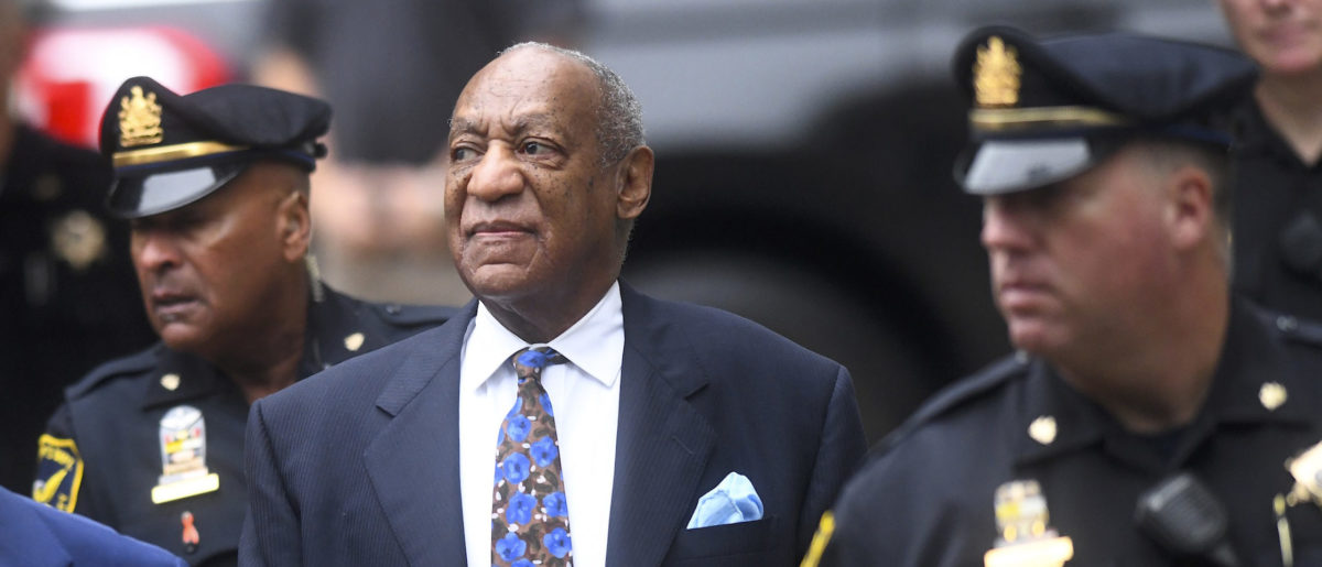 (C) Bill Cosby arrives at the Montgomery County Courthouse on the first day of sentencing in his sexual assault trial on September 24, 2018 in Norristown, Pennsylvania. In April, Cosby was found guilty on three counts of aggravated indecent assault for drugging and sexually assaulting Andrea Constand at his suburban Philadelphia home in 2004. 60 women have accused the 80 year old entertainer of sexual assault. (Photo by Mark Makela/Getty Images)