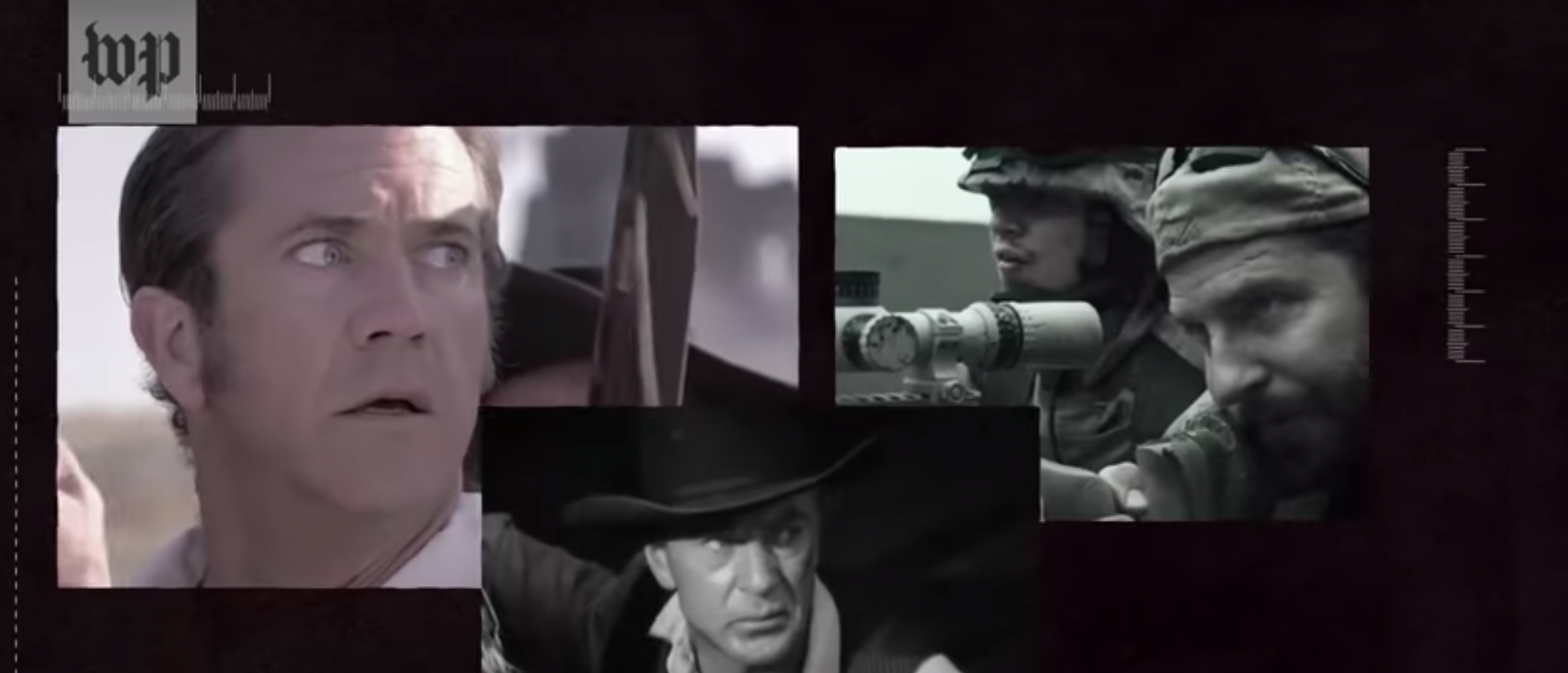"""Washington Post documentary asks """"Why is American masculinity at the center of gun culture, but not the gun debate?"""" Film dated June 20, 2019. Photo Youtube screenshot."""