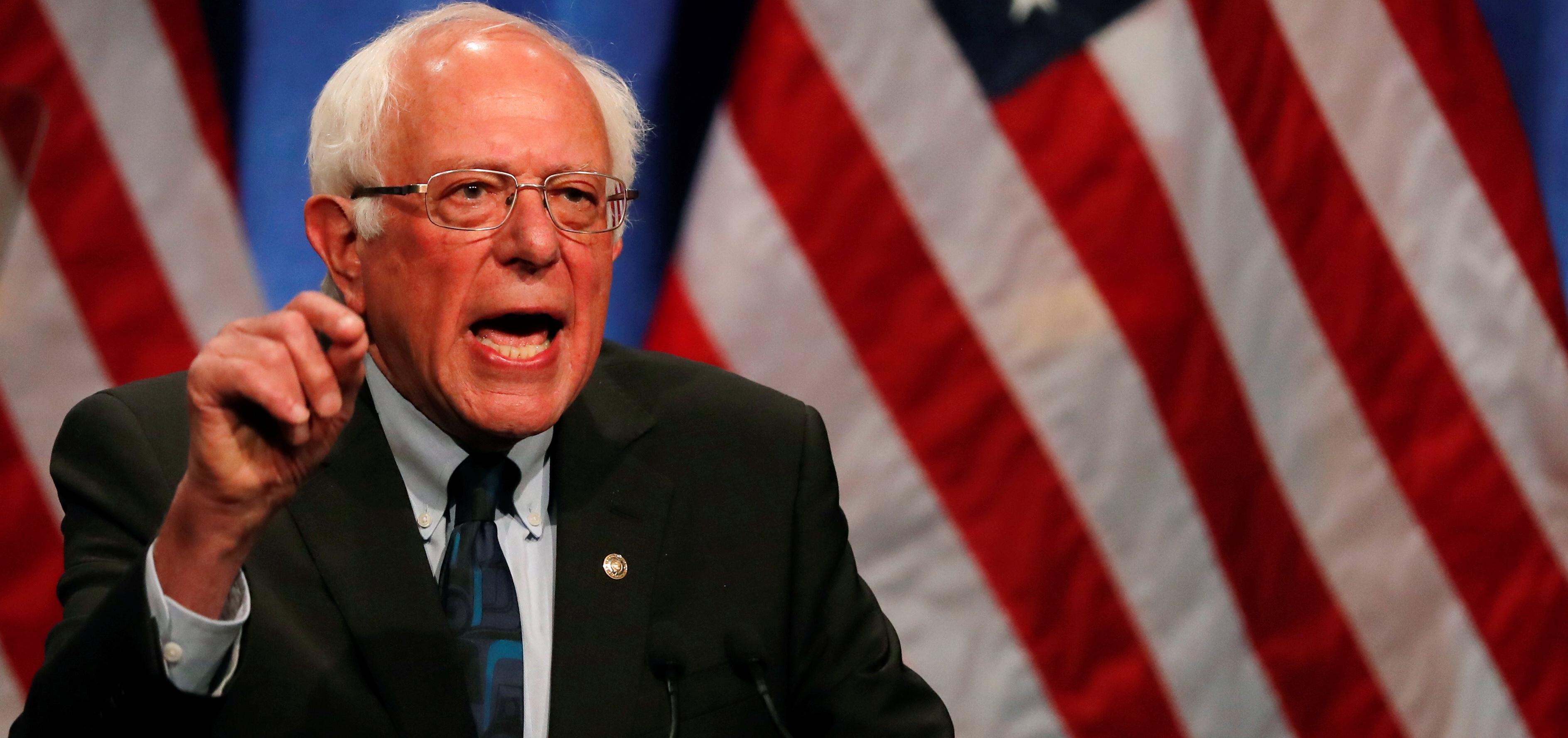 Democratic 2020 U.S. presidential candidate Senator Bernie Sanders attends a campaign event at George Washington University in Washington, D.C., U.S. June 12, 2019. REUTERS/Carlos Barria