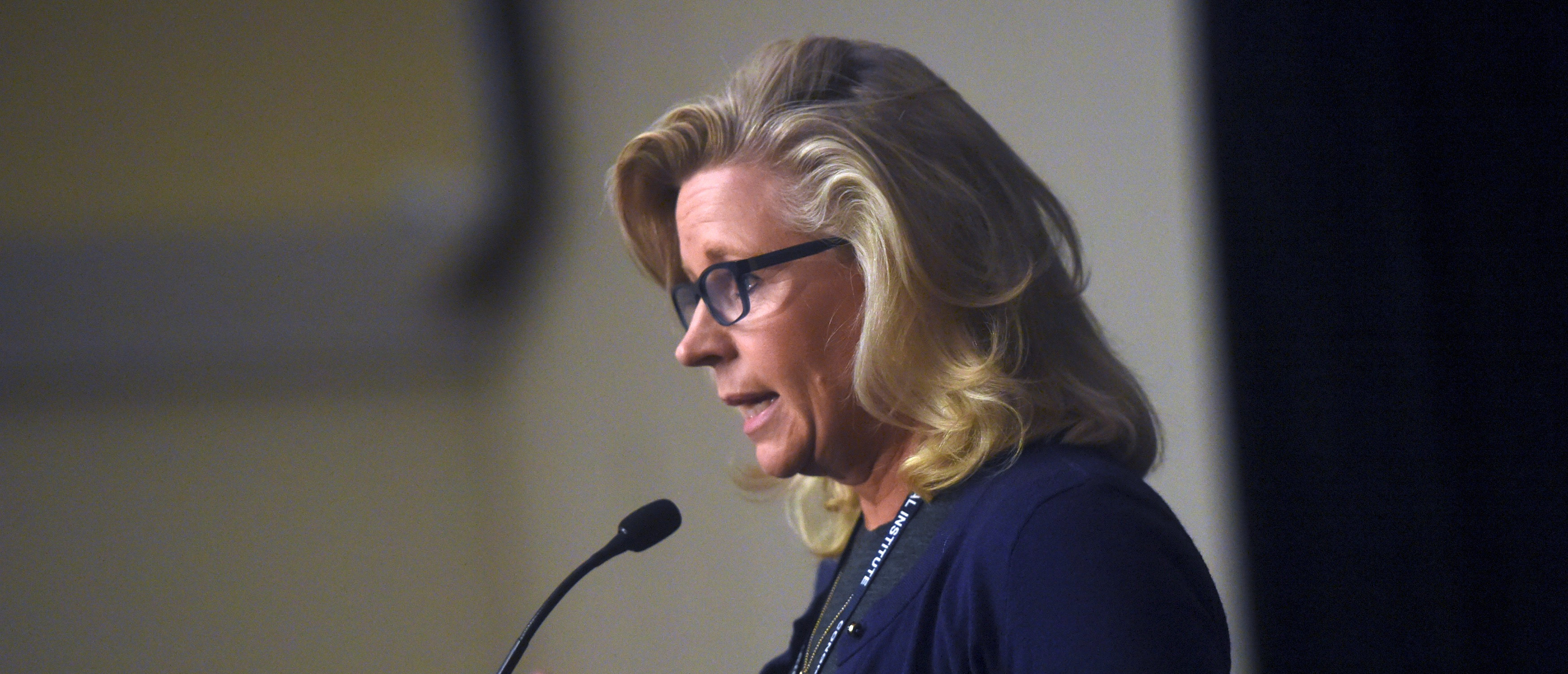 "U.S. Representative Liz Cheney addresses the media during the 2017 ""Congress of Tomorrow"" Joint Republican Issues Conference in Philadelphia, Pennsylvania"