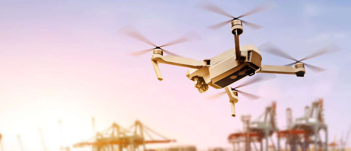 Amazon can fly drones for research. SHUTTERSTOCK/ leolintang