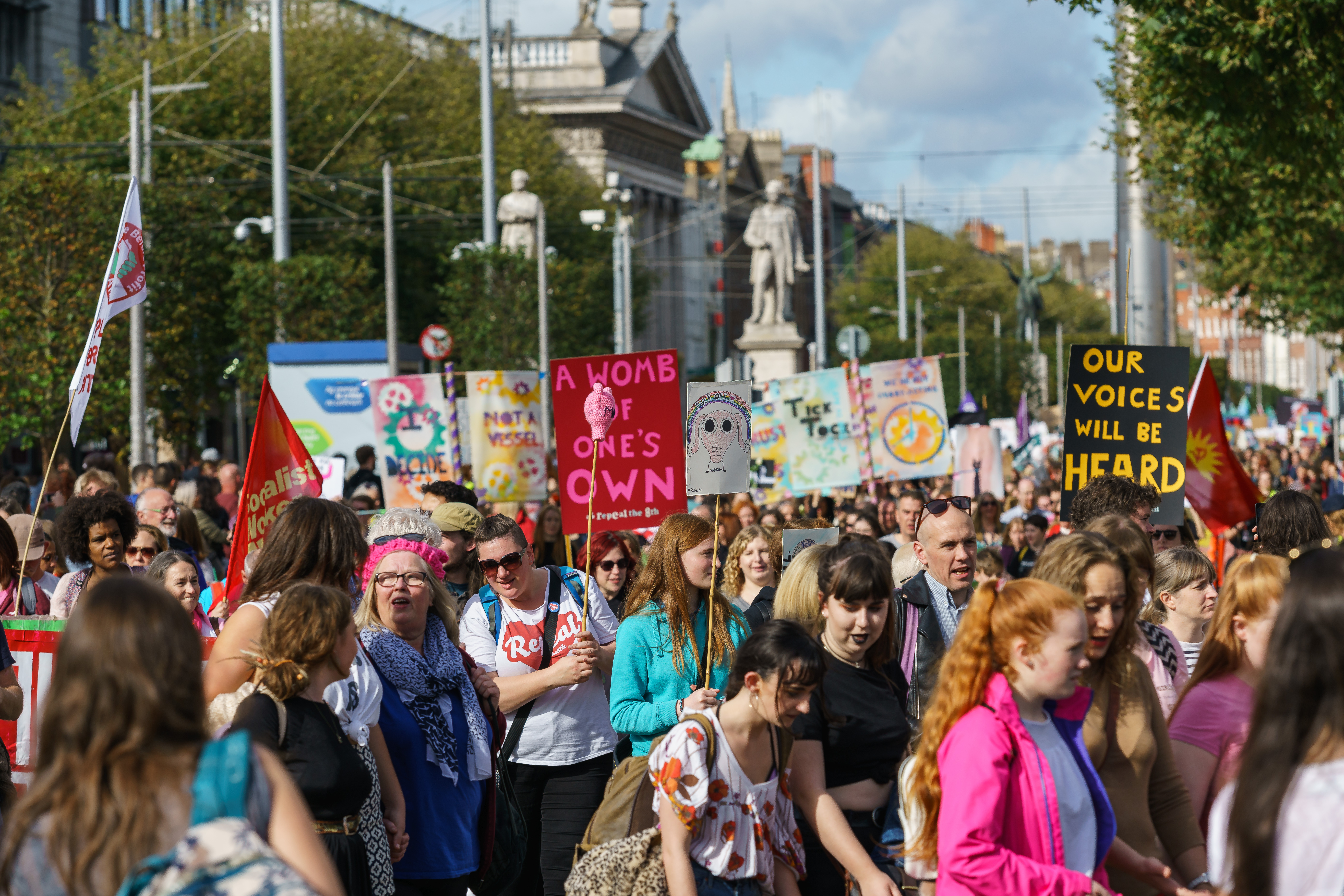 Dublin, Ireland- 30 September 2017- March For Choice by the Abortion Rights Campaign (ARC). The demonstrators marched through Dublin city centre calling for the Eighth Amendment to be removed, Abd, Shutterstock