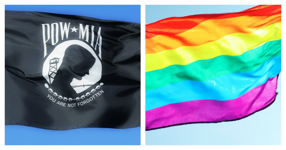 Maryland Government Building Replaces POW/MIA Flag With LGBT Flag