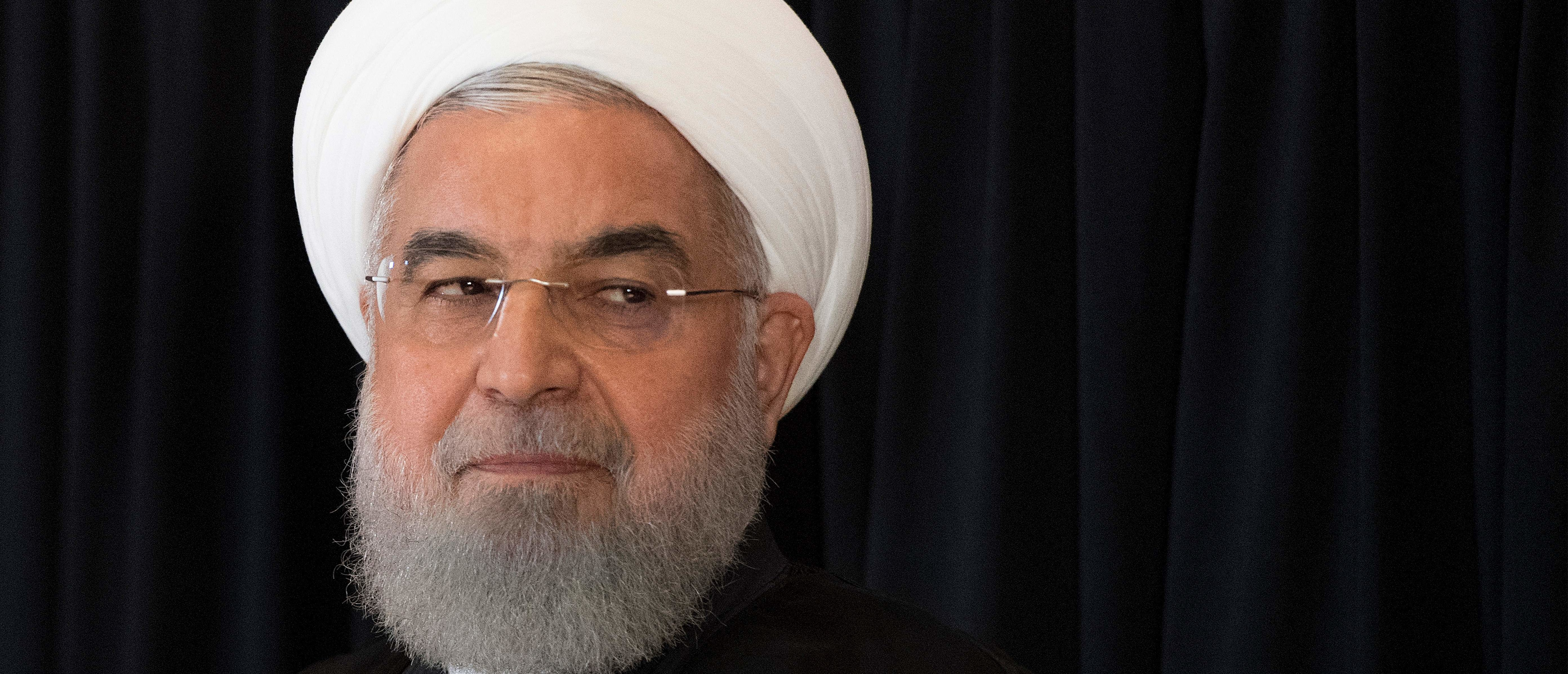 Iranian President Hassan Rouhani speaks during a press conference in New York on September 26, 2018,on the sidelines of the United Nations General Assembly. (JIM WATSON/AFP/Getty Images)
