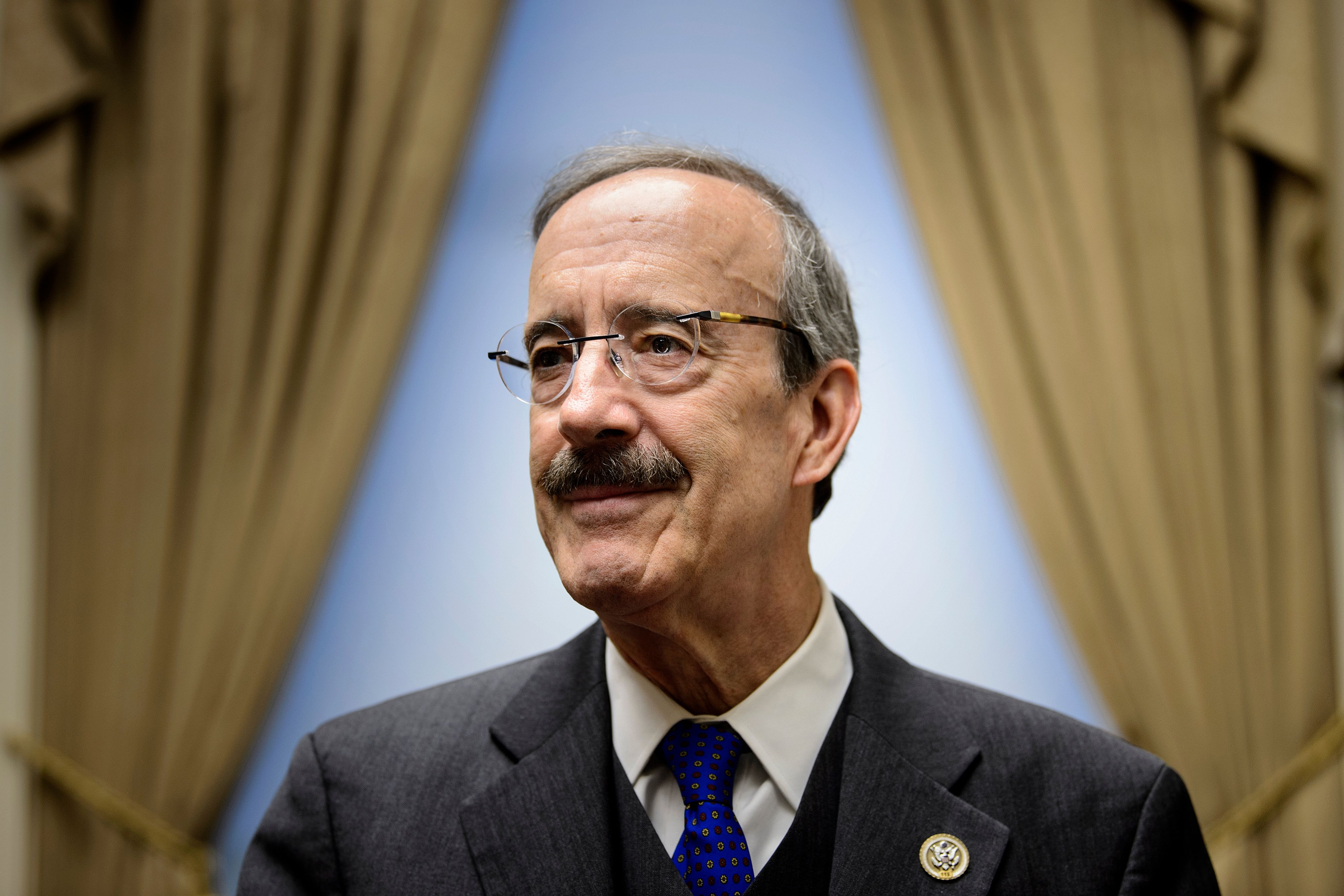 Ranking member of the House Foreign Relations Committee, Rep. Representative Eliot Engel, who is a leading candidate to take over the panel, poses for a portrait in his office on Capitol Hill November 15, 2018 in Washington, DC. (BRENDAN SMIALOWSKI/AFP/Getty Images)