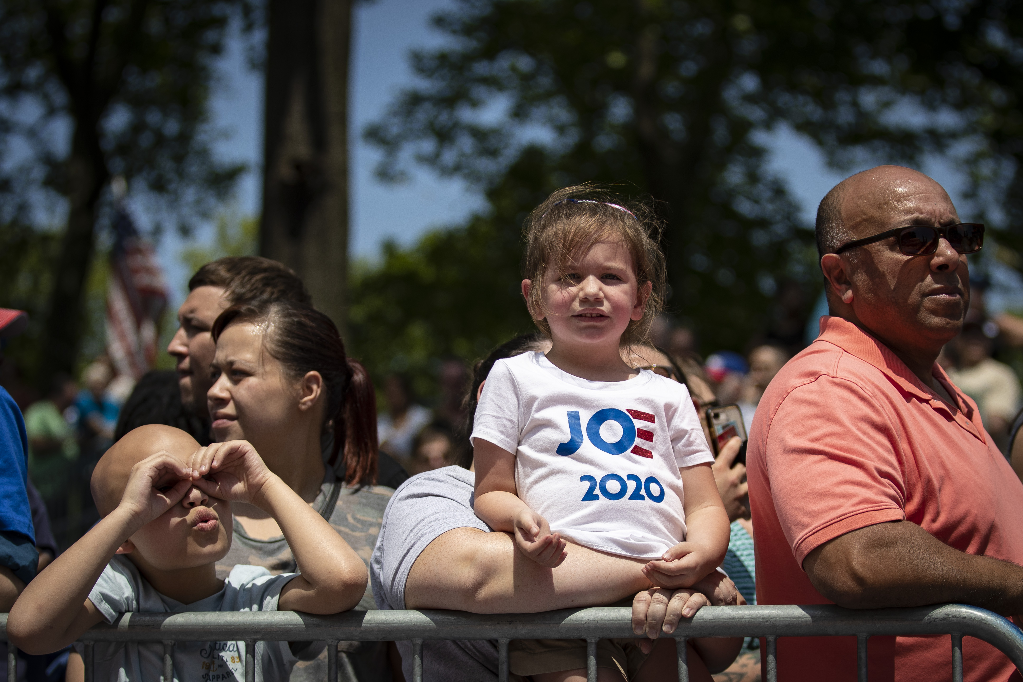 The crowd waits for former U.S. Vice President Joe Biden to arrive during a campaign kickoff rally, May 18, 2019 on Philadelphia, Pennsylvania. (Photo by Drew Angerer/Getty Images)