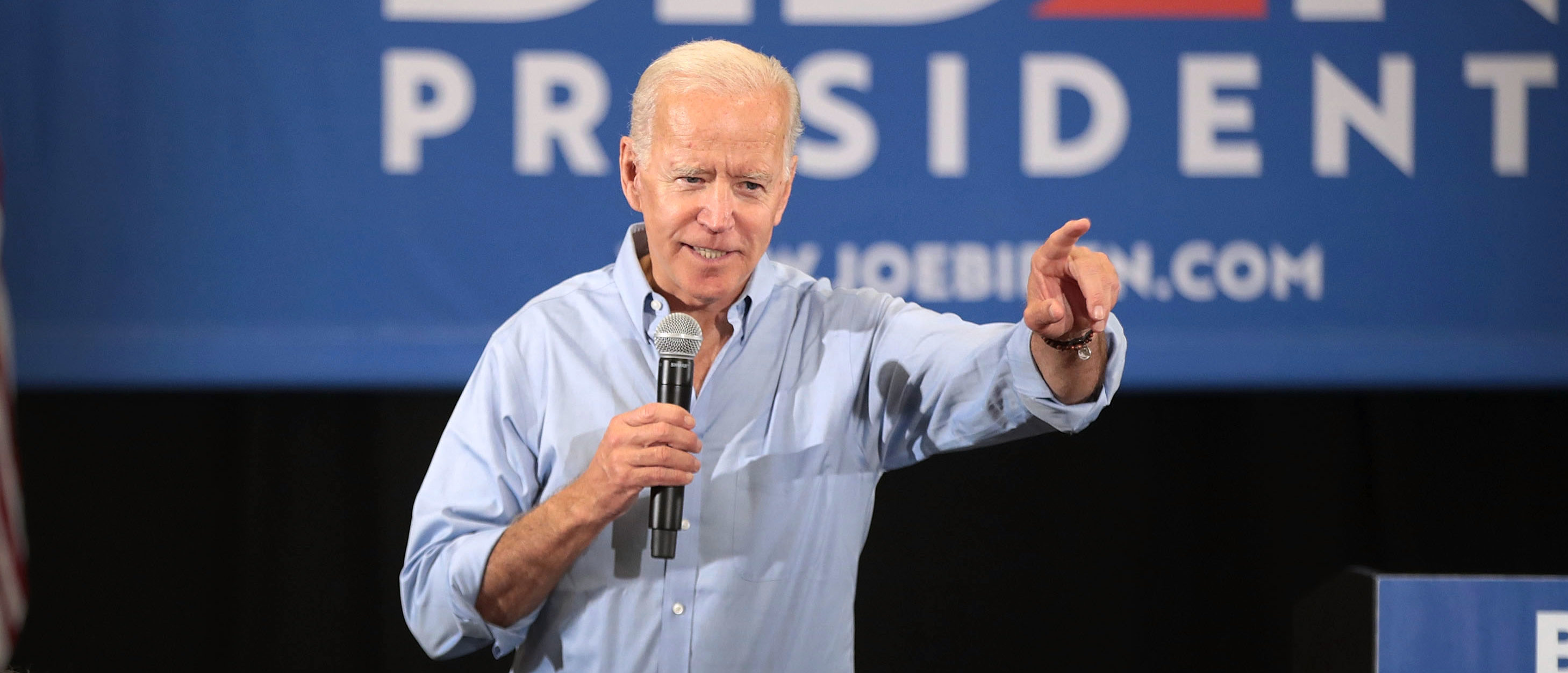 Democratic presidential candidate and former U.S. Vice President Joe Biden speaks during a campaign stop at Clinton Community College on June 12, 2019 in Clinton, Iowa. (Scott Olson/Getty Images)