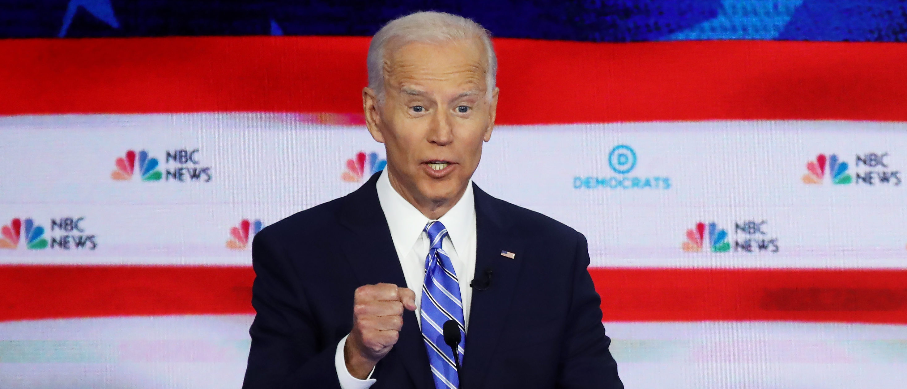 Democratic presidential candidate former Vice President Joe Biden speaks during the second night of the first Democratic presidential debate on June 27, 2019 in Miami, Florida. (Drew Angerer/Getty Images)