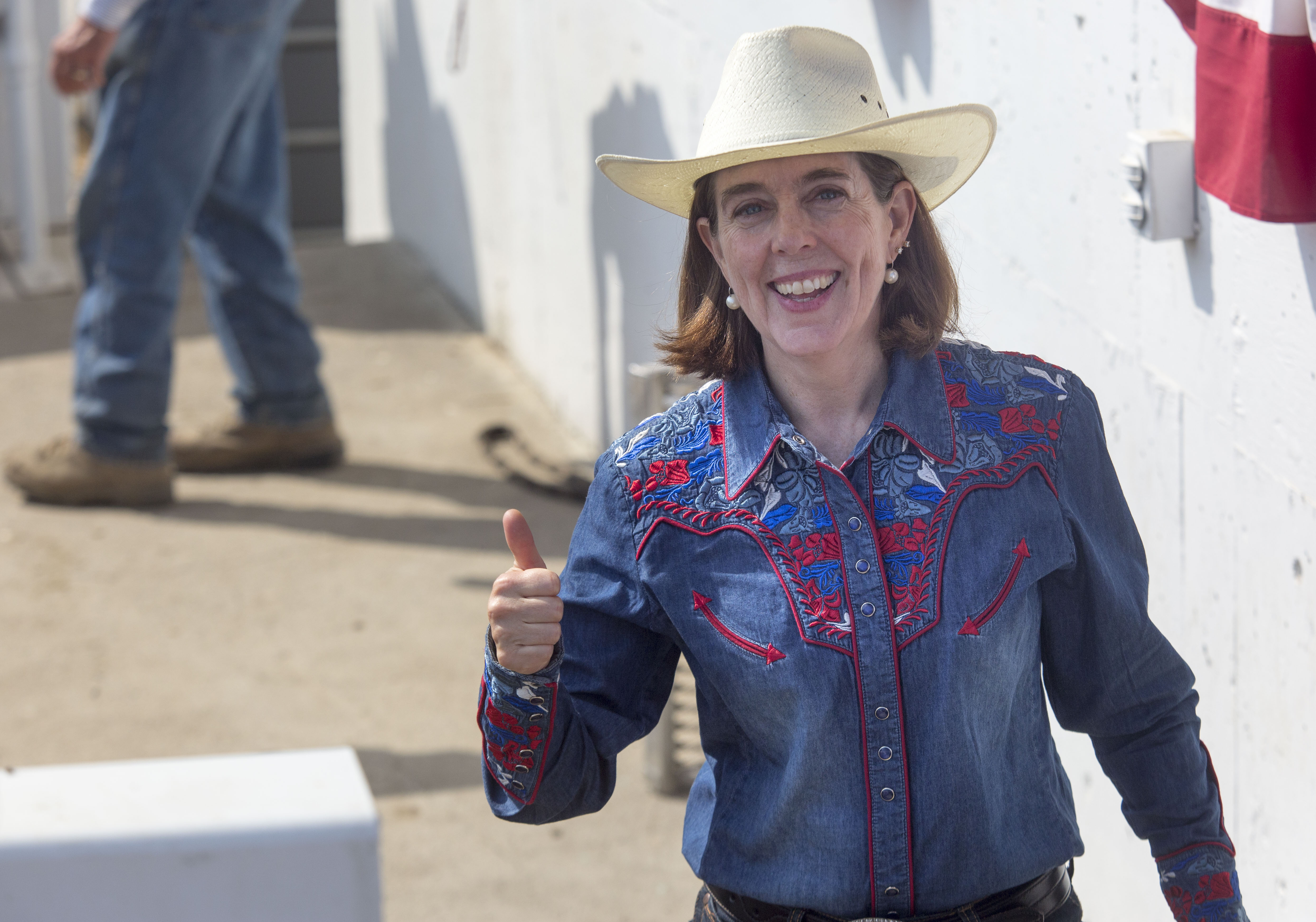 Oregon Governor Kate Brown attends the Pendleton Round-Up on September 15, 2017 in Pendleton, Oregon. (Photo by Natalie Behring/Getty Images)