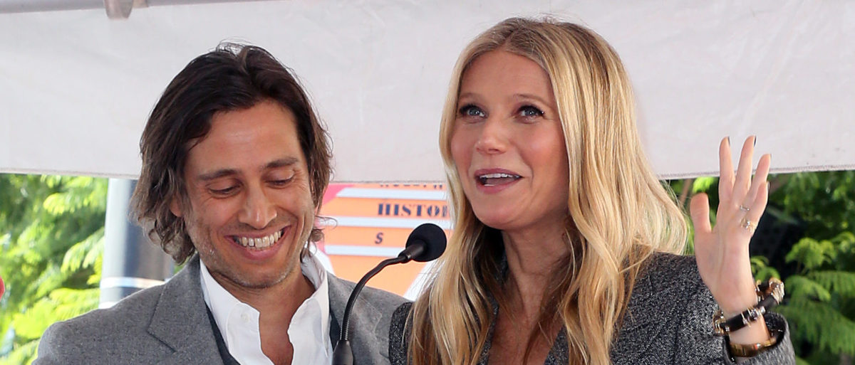 Brad Falchuk and Gwyneth Paltrow attend a ceremony honoring Ryan Murphy with a star on The Hollywood Walk of Fame on December 04, 2018 in Hollywood, California. (Photo by David Livingston/Getty Images)