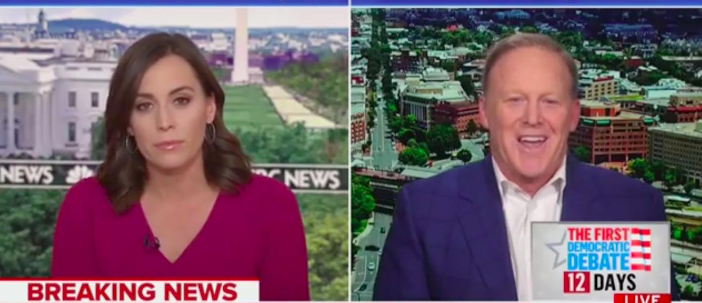 Hallie Jackson Interviews Sean Spicer on June 14, 2019. (MSNBC/YouTube)
