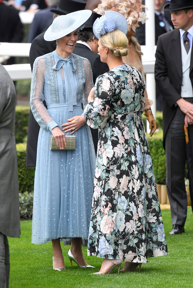 Horse Racing - Royal Ascot - Ascot Racecourse, Ascot, Britain - June 18, 2019 Britain's Catherine, Duchess of Cambridge and Zara Tindall at Ascot REUTERS/Toby Melville