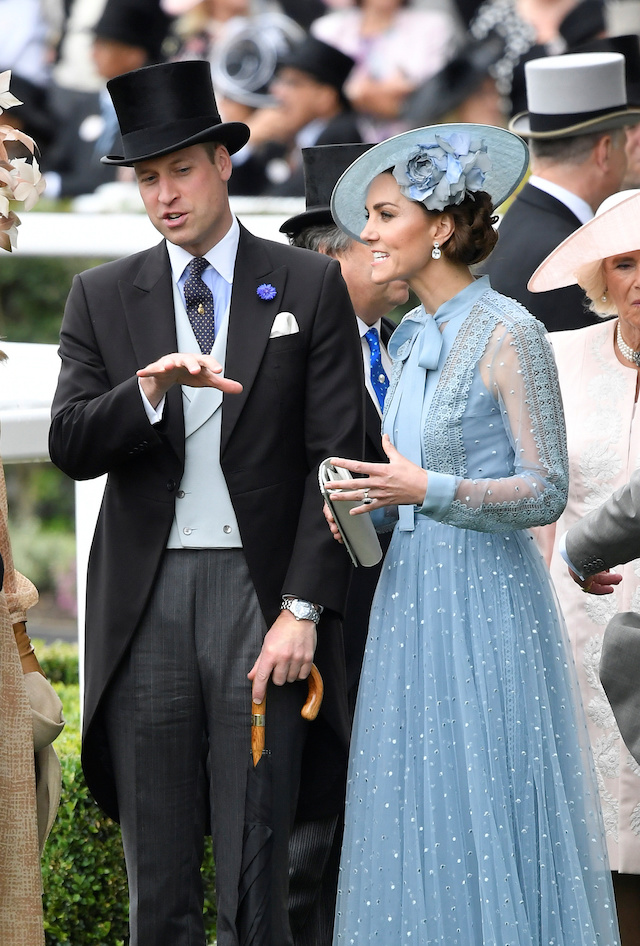 Horse Racing - Royal Ascot - Ascot Racecourse, Ascot, Britain - June 18, 2019 Britain's Catherine, Duchess of Cambridge and Prince William, Duke of Cambridge at Ascot REUTERS/Toby Melville