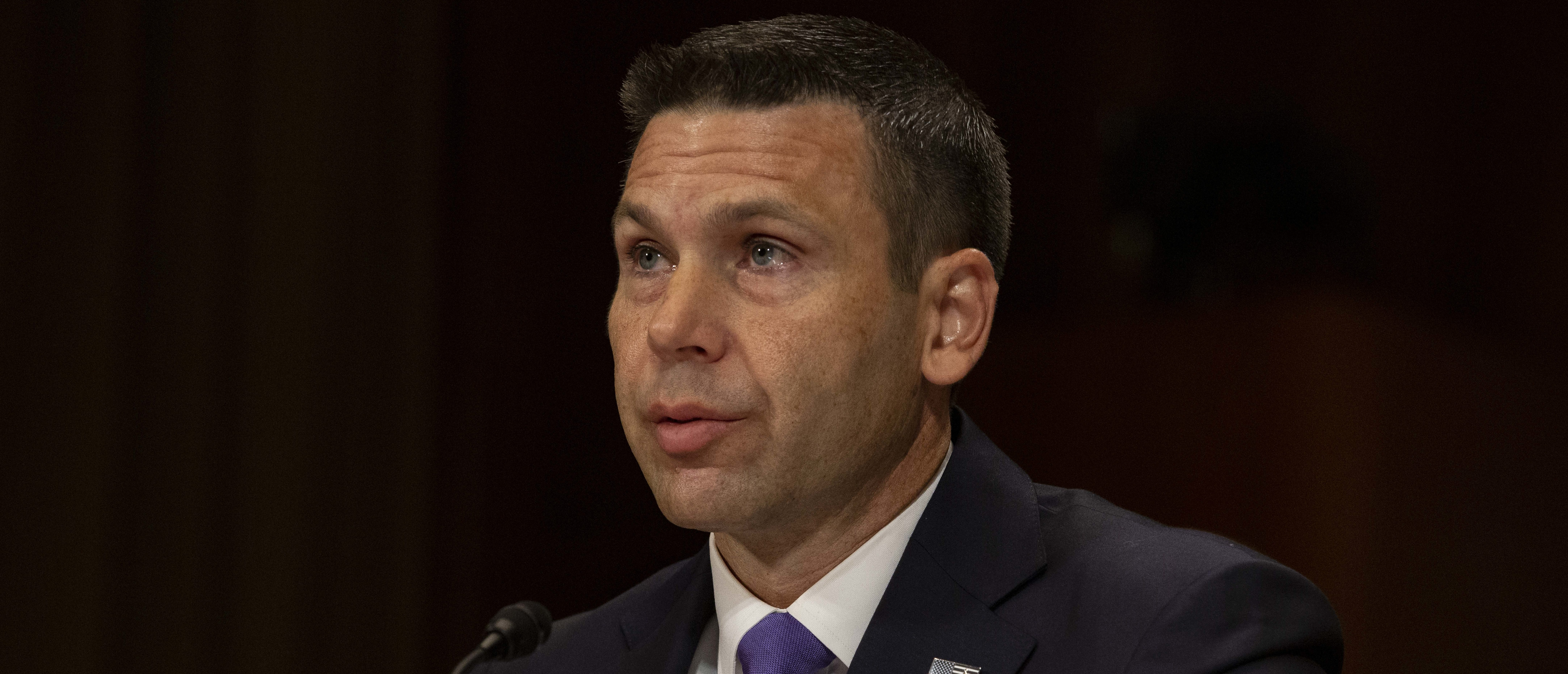 WASHINGTON, DC - JUNE 11: Acting Homeland Security Secretary Kevin McAleenan speaks during a hearing with the Senate Judiciary Committee on Capitol Hill on June 11, 2019 in Washington, DC. Members of the committee and the witness discussed the Secure and Protect Act of 2019 and how it would fix the crisis at the U.S. Southern Border. (Photo by Anna Moneymaker/Getty Images)