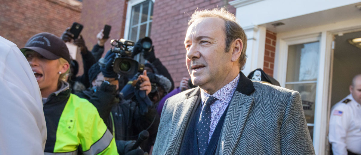 Actor Kevin Spacey leaves Nantucket District Court after being arraigned on sexual assault charges on January 7, 2019 in Nantucket, Massachusetts. (Photo by Scott Eisen/Getty Images)