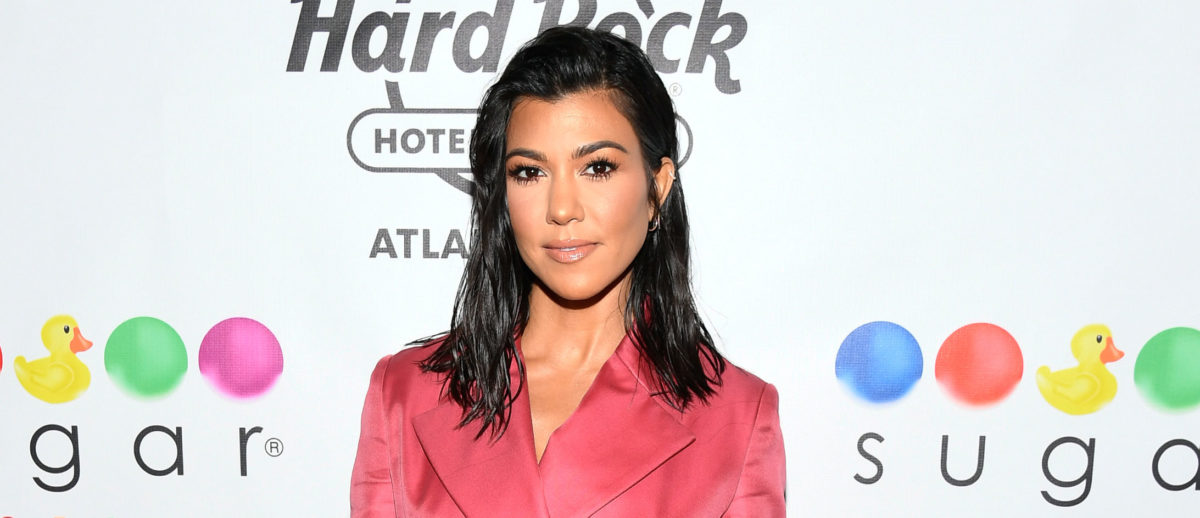 Kourtney Kardashian Hosts The Grand Opening Of Sugar Factory At Hard Rock Hotel & Casino Atlantic City at Sugar Factory at the Hard Rock Hotel & Casino on July 28, 2018 in Atlantic City, New Jersey. (Photo by Dave Kotinsky/Getty Images for Sugar Factory American Brasserie)