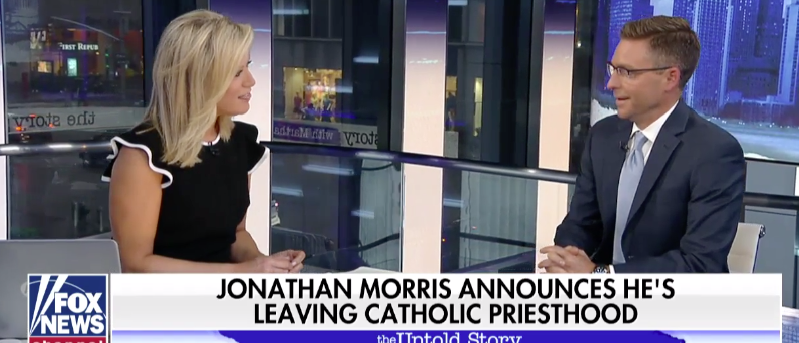 Jonathan Morris, a priest and on-air Fox News Commentator for 14 years, announced Monday he is leaving the priesthood. Photo screenshot.