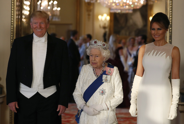 Twitter has some intense reactions to Trump meeting the Queen