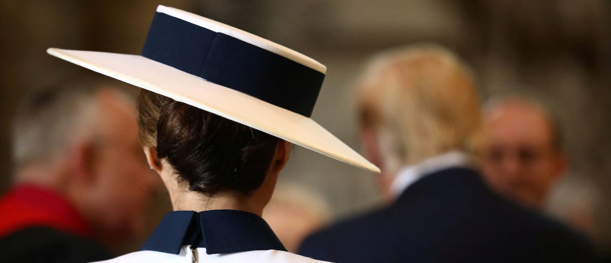 U.S. First Lady Melania Trump is seen at Westminster Abbey as part of a state visit in London, Britain June 3, 2019. REUTERS/Simon Dawson