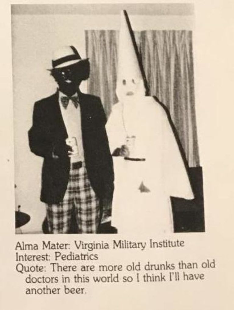 A photo Gov. Ralph Northam's 1984 medical school yearbook of him.