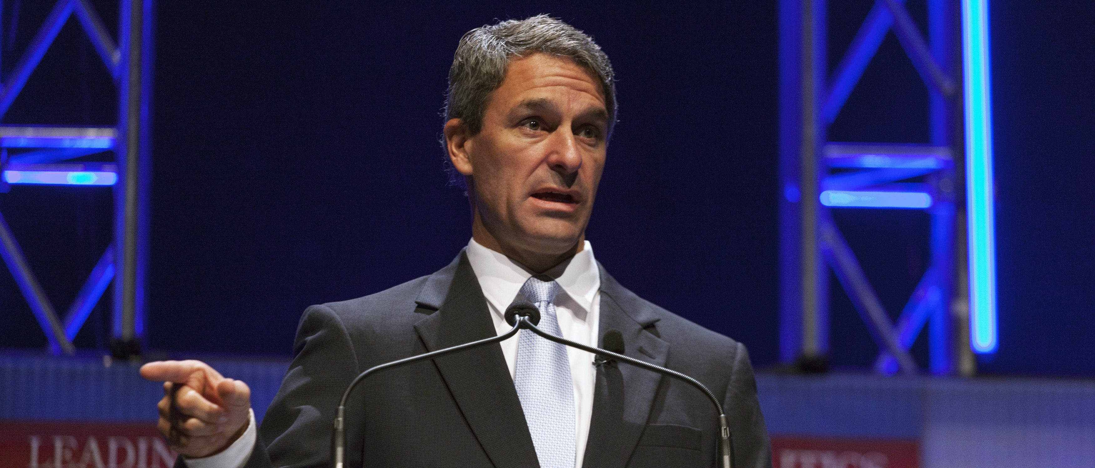 Former Virginia Attorney General Ken Cuccinelli speaks at the Family Leadership Summit in Ames, Iowa August 9, 2014. The pro-family Iowa organization is hosting the event in conjunction with national partners Family Research Council Action and Citizens United. REUTERS/Brian Frank? (UNITED STATES - Tags: POLITICS BUSINESS)
