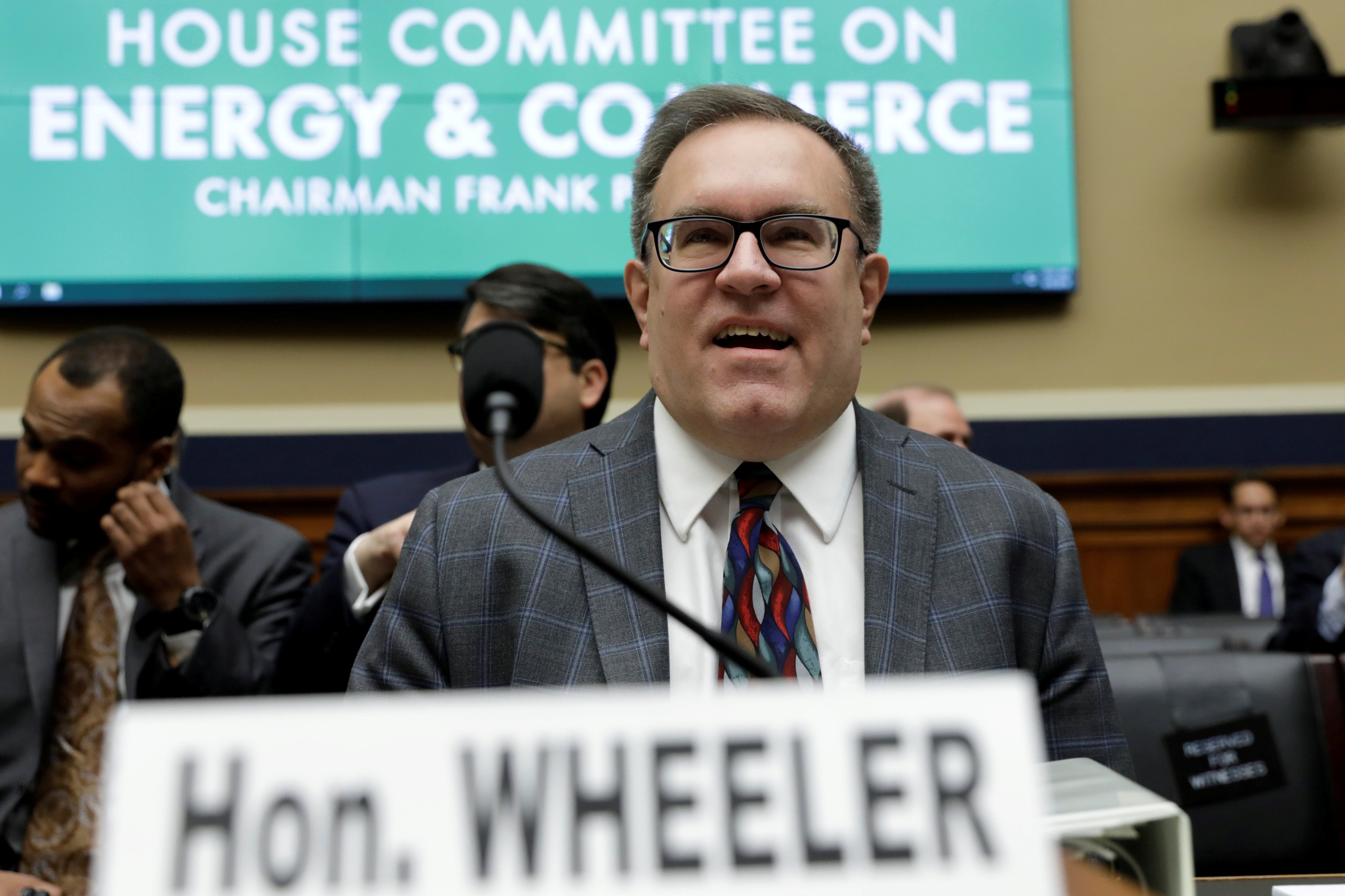 EPA Administrator Andrew Wheeler testifies before a House Energy and Commerce Environment and Climate Change Subcommittee hearing