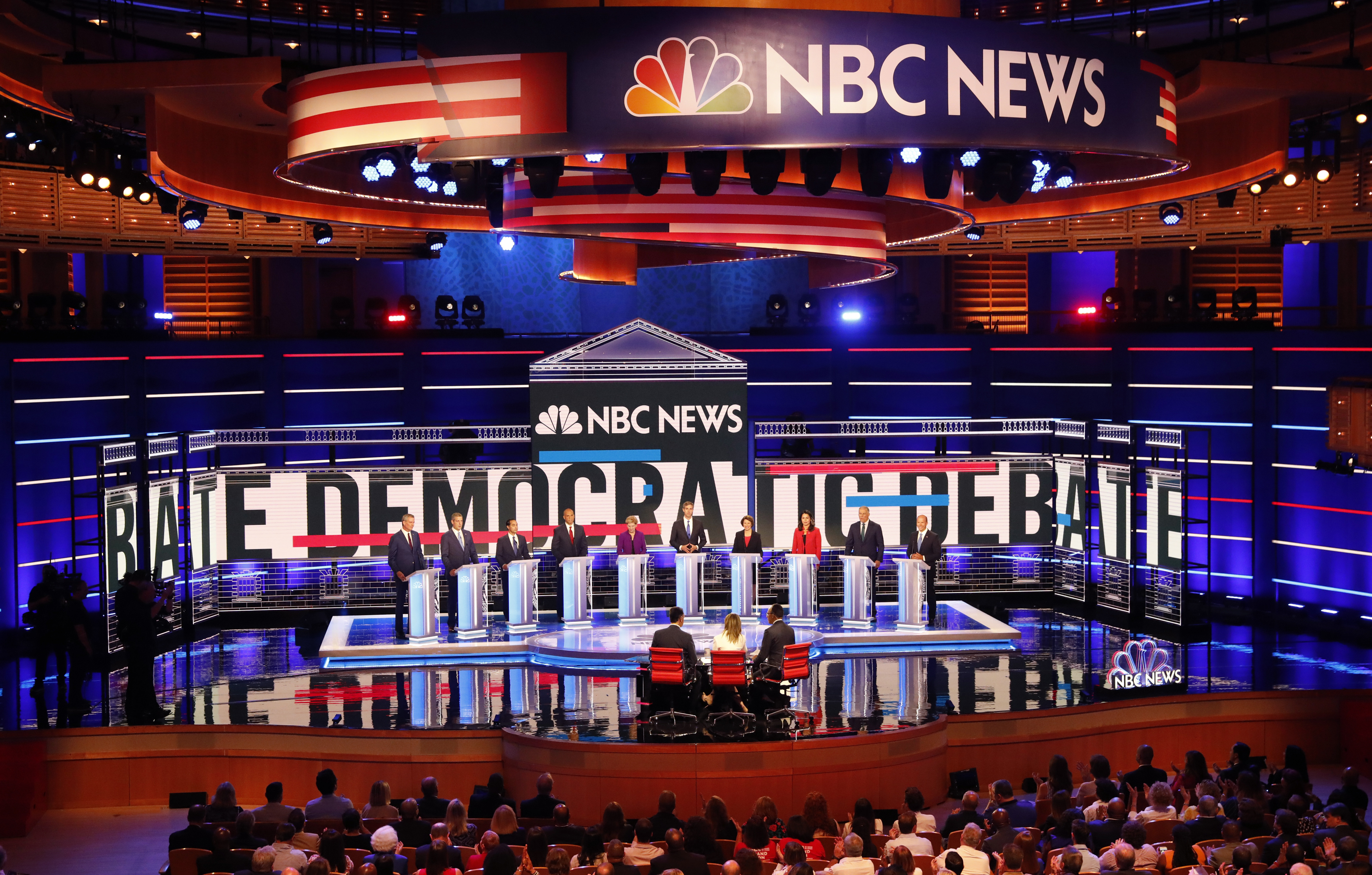 Candidates participate in the first U.S. 2020 presidential election Democratic candidates debate in Miami, Florida, U.S.,