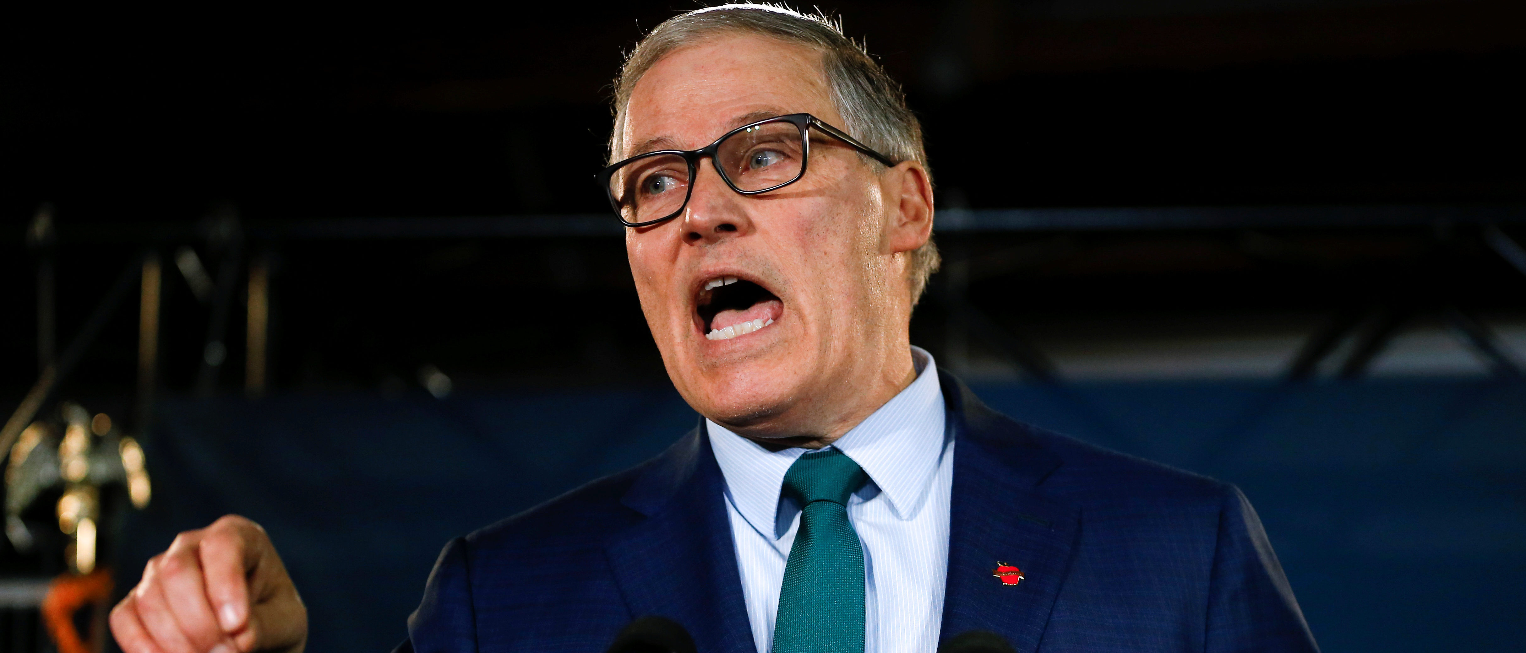 Washington state Governor Jay Inslee speaks during a news conference to announce his decision to seek the Democratic Party's nomination for president in 2020 at A&R Solar in Seattle, Washington, U.S., March 1, 2019. REUTERS/Lindsey Wasson.