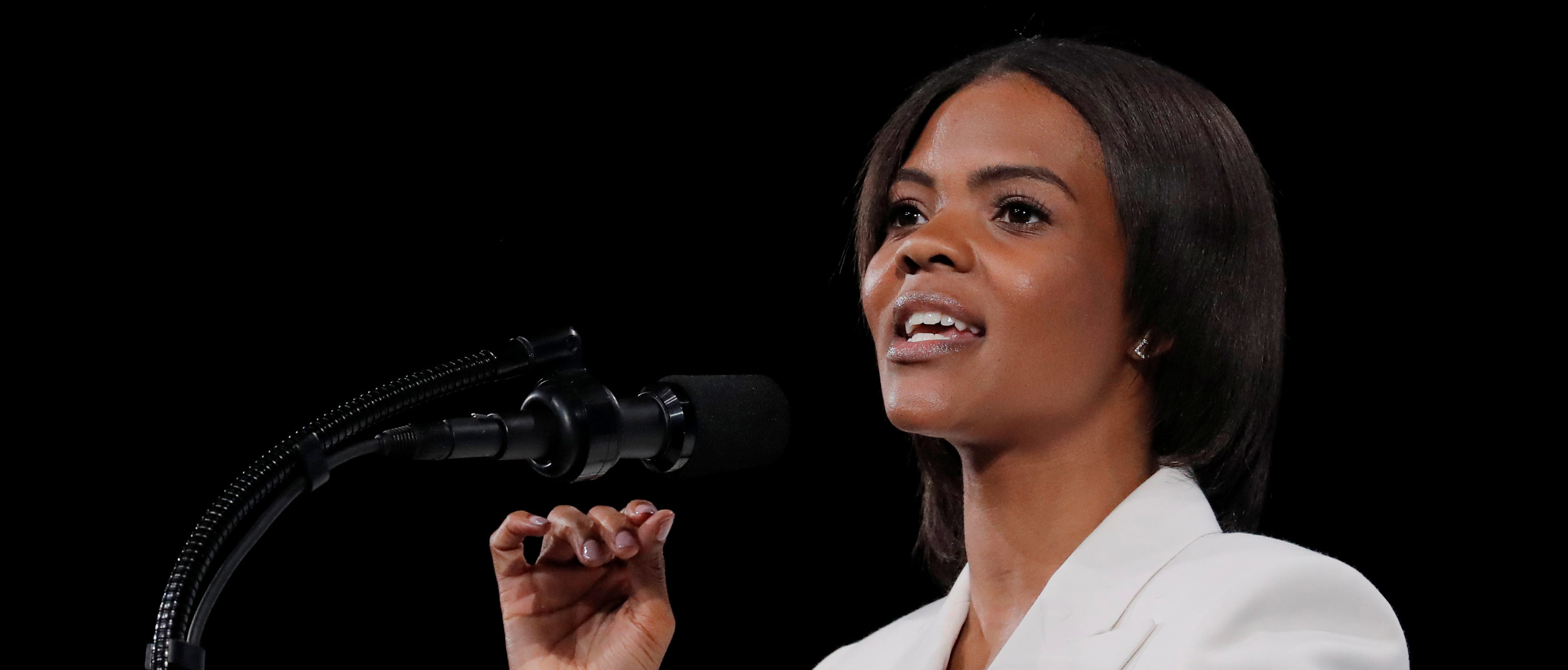Activist Candace Owens addresses the 148th National Rifle Association (NRA) annual meeting in Indianapolis, Indiana, U.S., April 26, 2019. REUTERS/Lucas Jackson