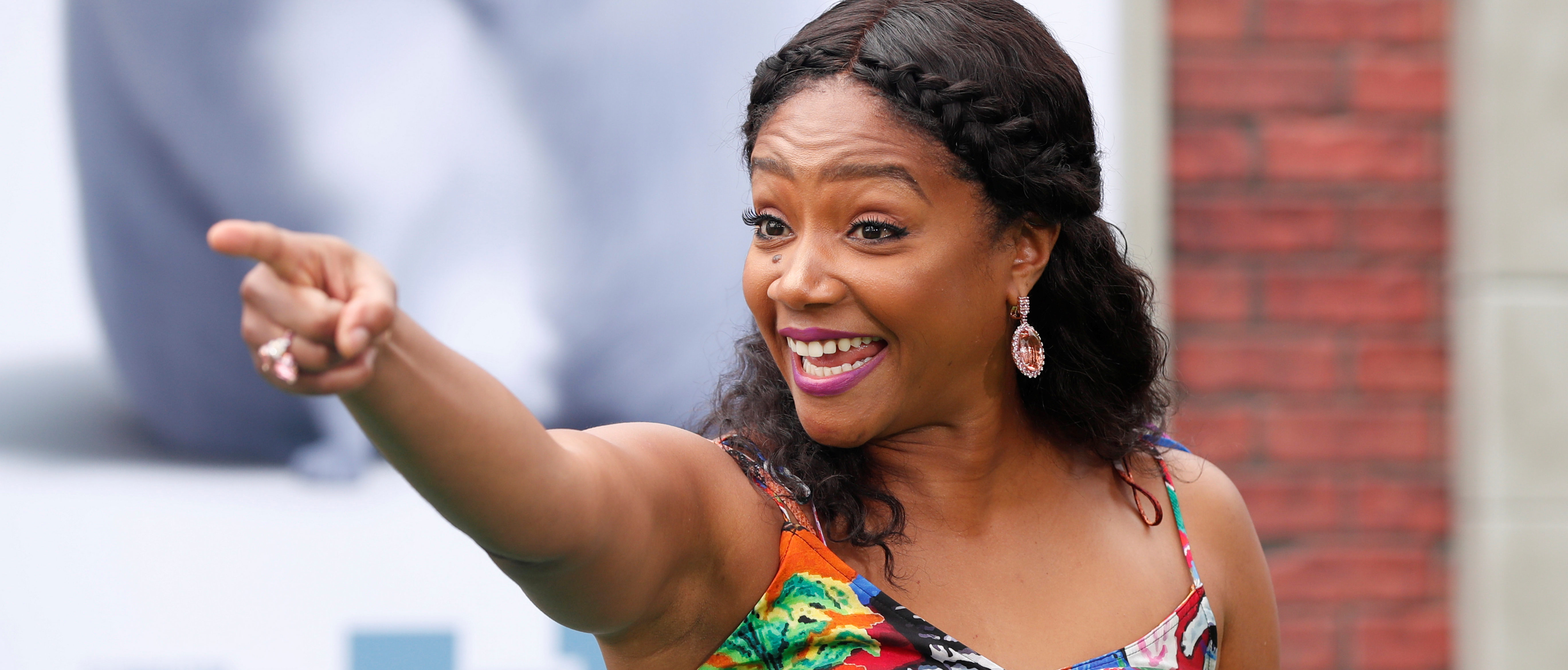 "Tiffany Haddish poses at the premiere for ""The Secret Life of Pets 2"" in Los Angeles, California, U.S., June 2, 2019. REUTERS/Mario Anzuoni"