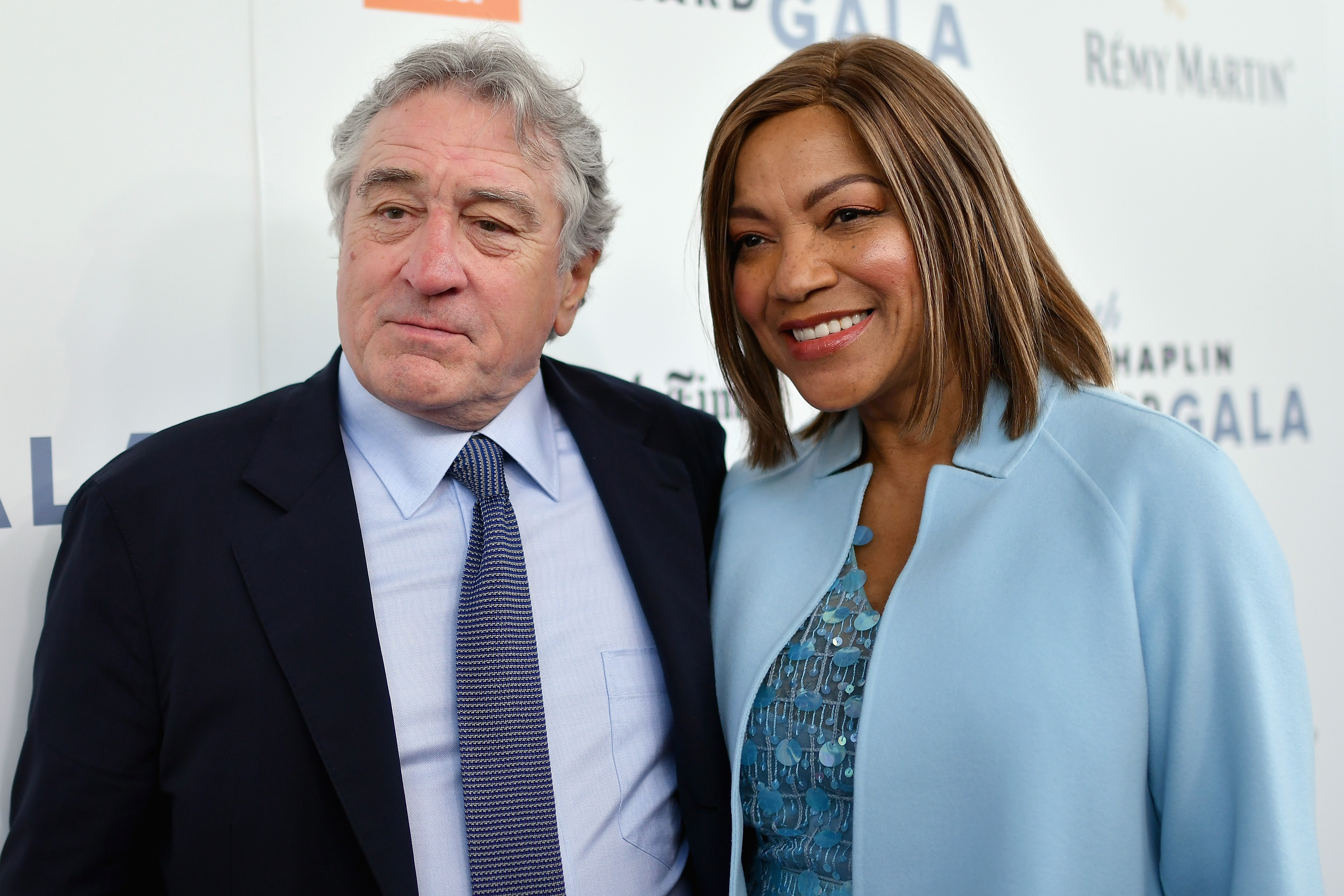 Grace Hightower (L) and actor Robert De Niro attend the 44th Chaplin Award Gala at David H. Koch Theater at Lincoln Center on May 8, 2017 in New York City. (Photo by Mike Coppola/Getty Images)