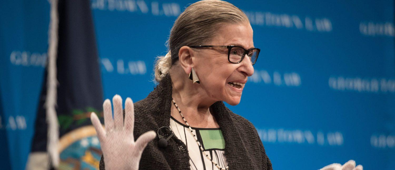 Justice Ruth Bader Ginsburg arrives to speak at Georgetown University on September 20, 2017.(Nicholas Kamm/AFP/Getty Images)