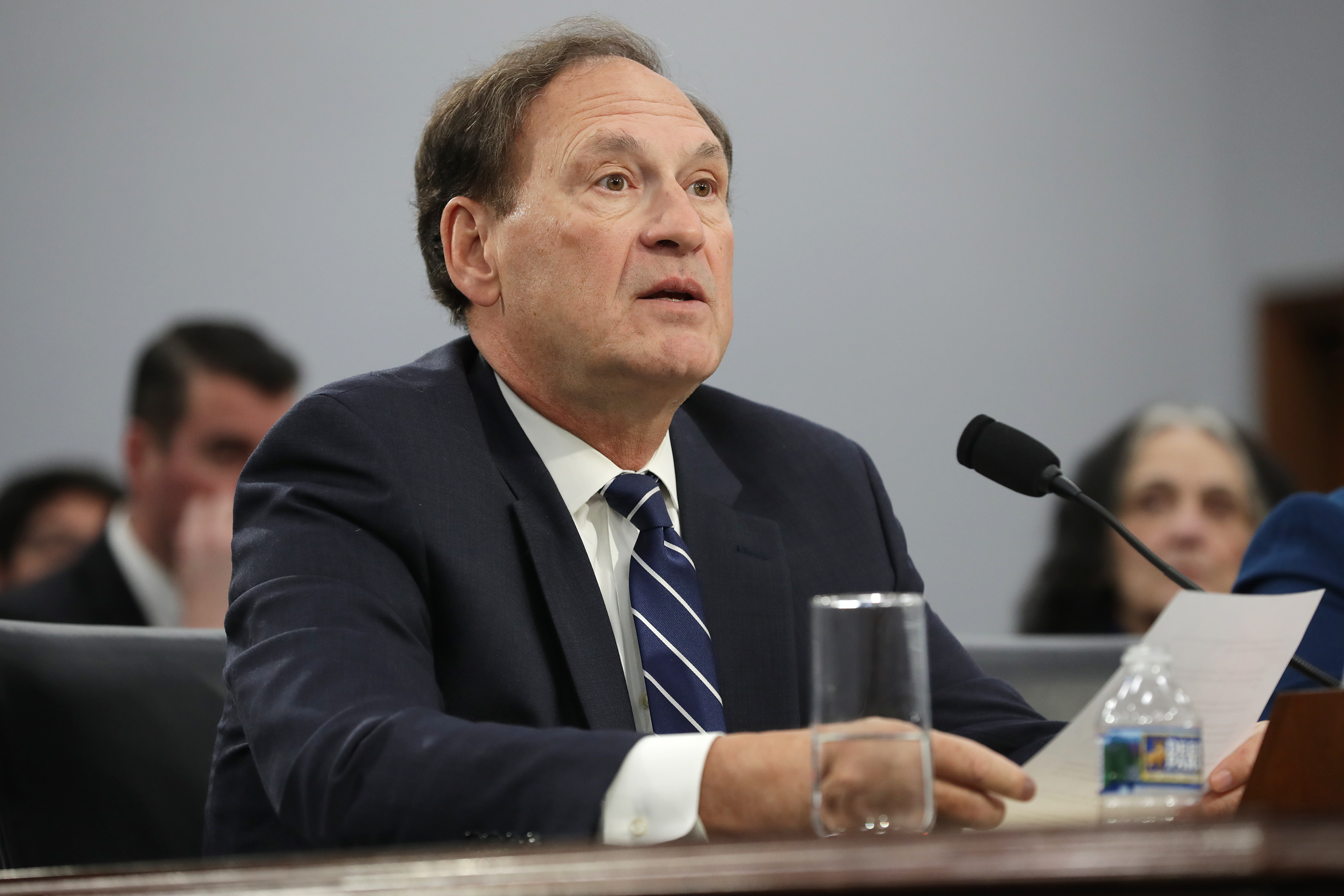 Justice Samuel Alito testifies about the Supreme Court's budget during a hearing of the House Appropriations Committee on March 7, 2019. (Chip Somodevilla/Getty Images)