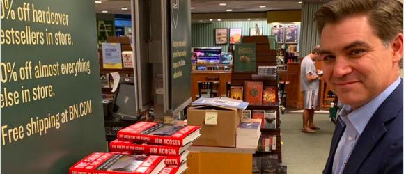Jim Acosta's 'Quiet' Book Signing: 30 Books Sold