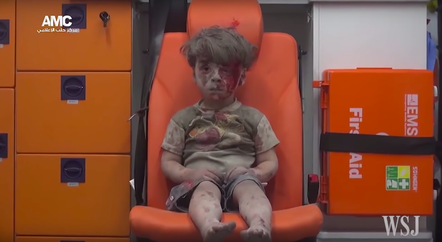 Child Rescued From Airstrike Rubble in Aleppo/ Wall Street Journal/ YouTube