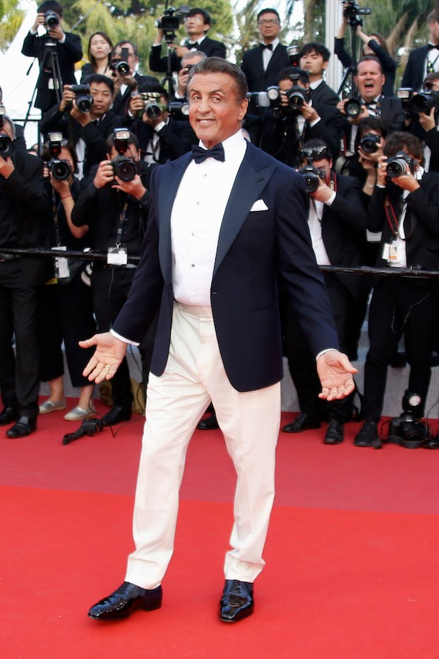"72nd Cannes Film Festival - Closing ceremony and screening of the film ""Hors normes"" (The Specials) out of competition - Red Carpet Arrivals - Cannes, France, May 25, 2019. Sylvester Stallone poses. REUTERS/Regis Duvignau"