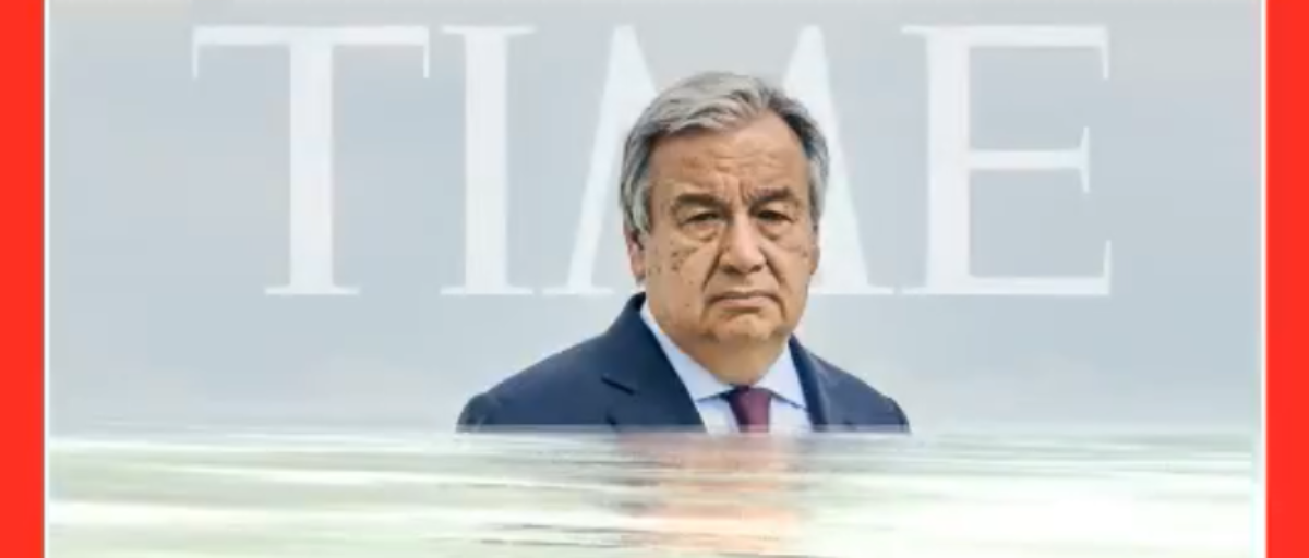 UN Chief Poses For TIME Cover Off 'Sinking' Pacific Island Nation That's Actually Growing In Size