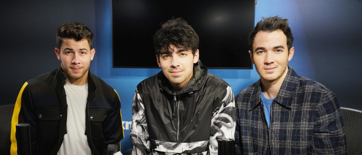 (L-R) Nick Jonas, Joe Jonas and Kevin Jonas of The Jonas Brothers visit the SiriusXM studios on March 1, 2019 in New York City. (Photo by Cindy Ord/Getty Images for SiriusXM)