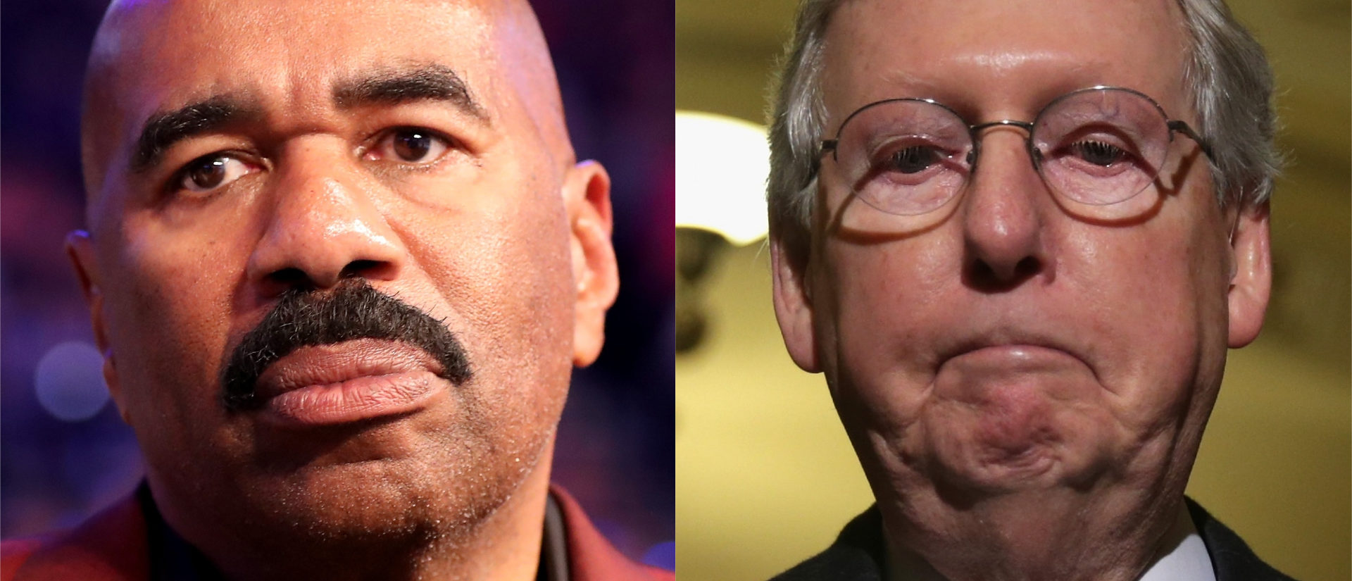 Steve Harvey Calls Mitch McConnell A 'Hillbilly' Over Reparations Comments