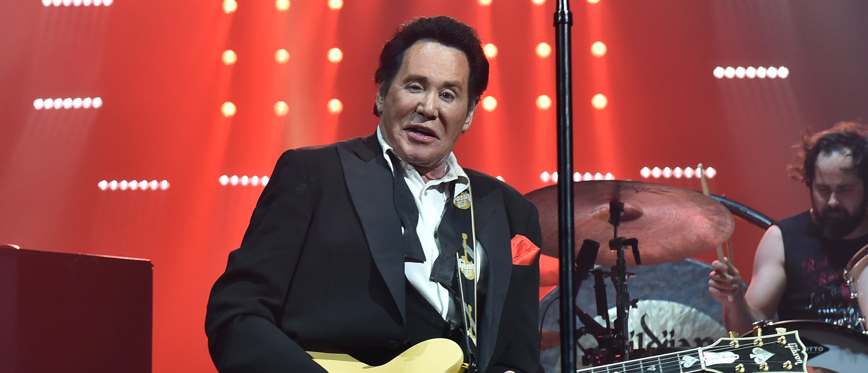 Entertainer Wayne Newton performs with The Killers onstage during the grand opening of T-Mobile Arena on April 6, 2016 in Las Vegas, Nevada. (Photo by Kevin Winter/Getty Images for ABA)