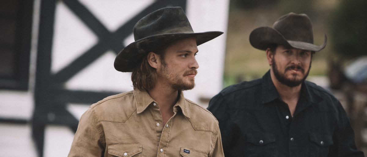 Tensions continue to run high between Rip Wheeler (R-Cole Hauser) and Kayce Dutton (L-Luke Grimes) on the Dutton ranch. Season 2 of Yellowstone returns to Paramount Network starting Wednesday, June 19 at 10 p.m., ET/PT. (Credit: Paramount Network)